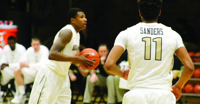 Junior guard Perrion Callandret makes 14 points  during game where Vandals won with 35 point lead against LCSC, Friday at UI Memorial Gym.